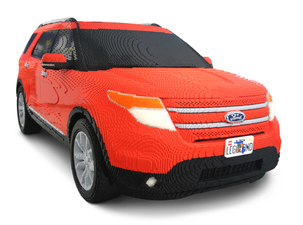 red Ford Explorer built with LEGOs