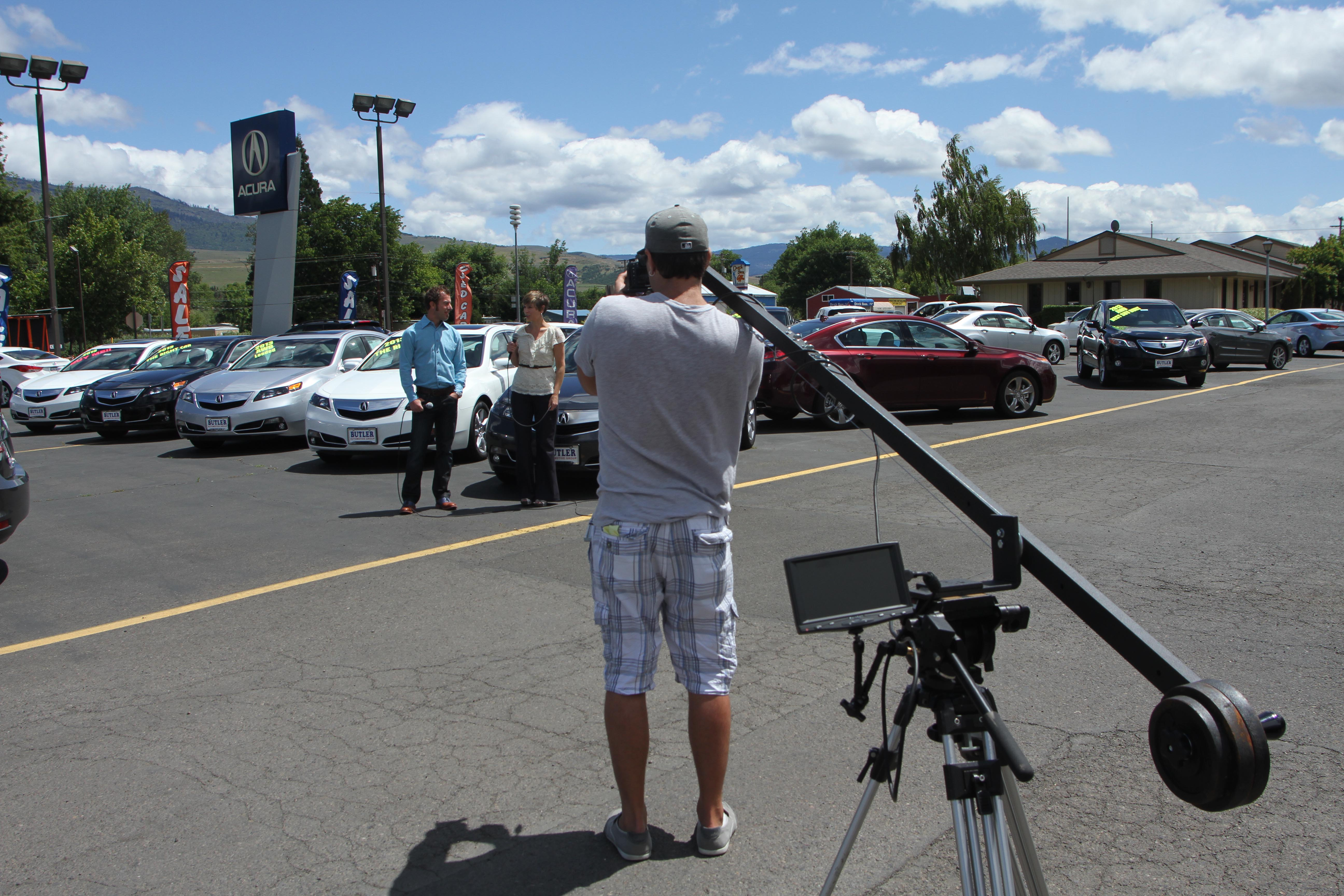 Behind the scenes of the Statewide Sale commercial shoot